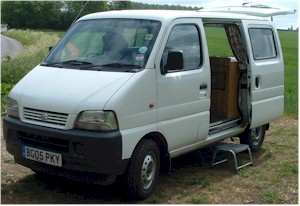 Campervan Comversion - Suzuki Carry 1.3 into Tin Tent 2